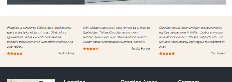 Lawyer WordPress Theme - Important trust factors
