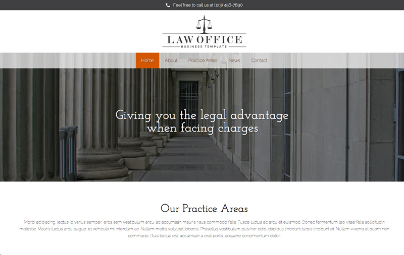 Law Office WordPress Theme - Appealing, stylish design