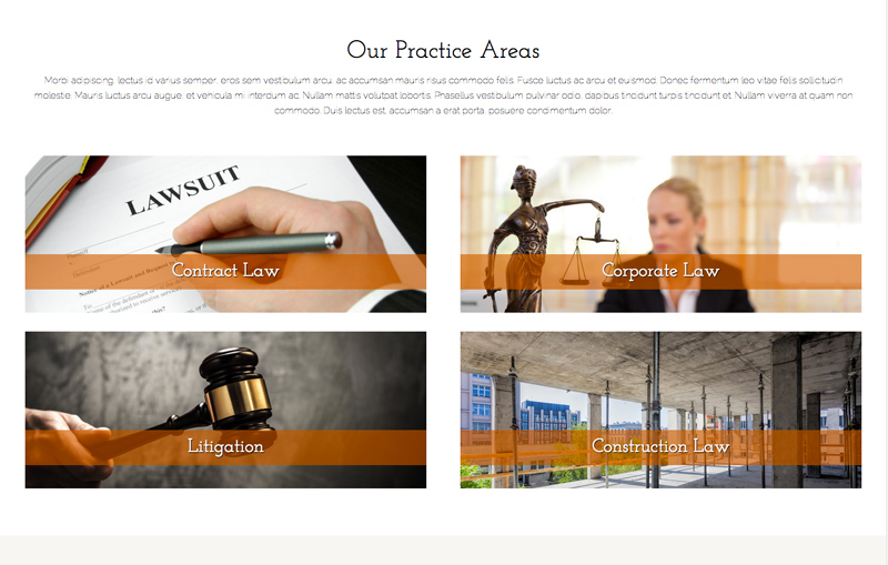 Law Office WordPress Theme - Service pages