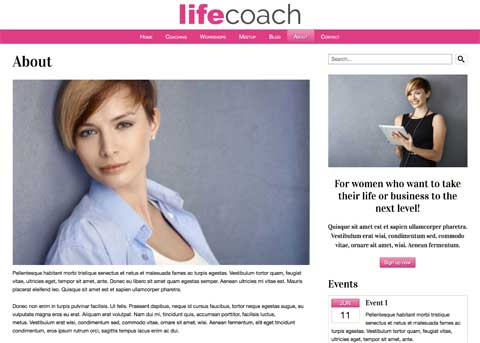 Life Coach WordPress Thema - In het oog springend design