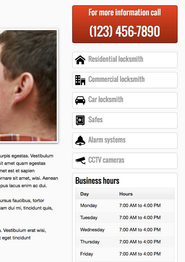 Locksmith WordPress Theme - Professional design