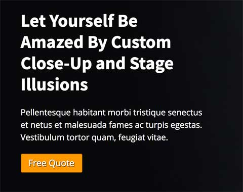 Magician WordPress Theme - Call-to-actions