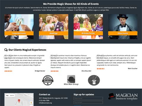 Magician WordPress Theme - Solid design