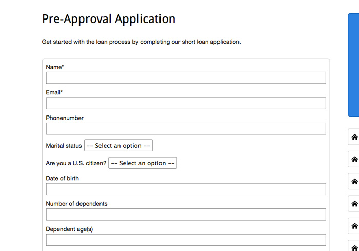 MortgageBrokerWordpressThemePreApprovalApplication