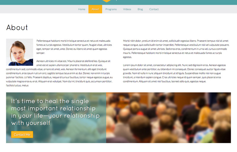 Motivational Speaker WordPress Theme - Introduce your business professionals