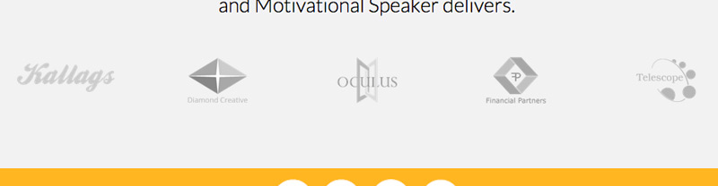 Motivational Speaker WordPress Theme - Trust icons