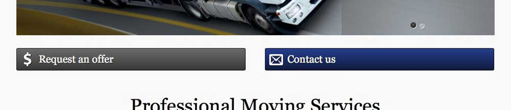 Moving Company WordPress Theme - Prominent call-to-actions