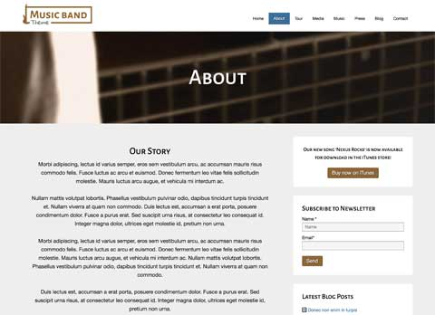 Music Band WordPress Theme - Introduce your music band