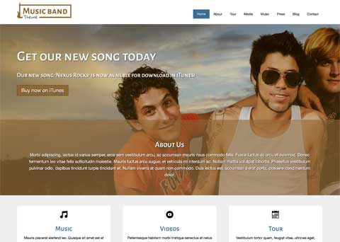 Music Band WordPress Theme - Quality online presence