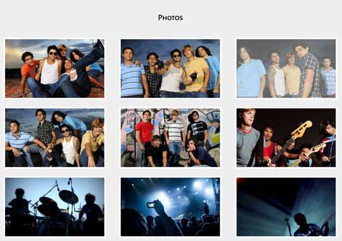 Music Band WordPress Theme - Integrated image gallery