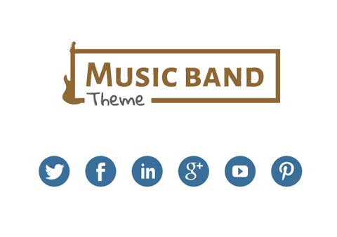 Music Band WordPress Theme - Social media options