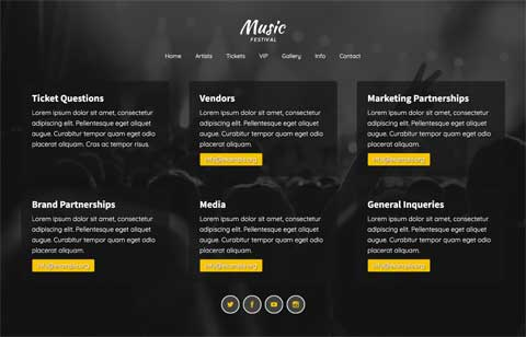 Music Festival WordPress Theme - Meet your prospects