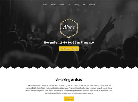 Music Festival WordPress Theme - Modern, professional design