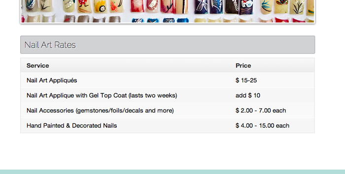 Nail Salon WordPress Theme - Pricing overview