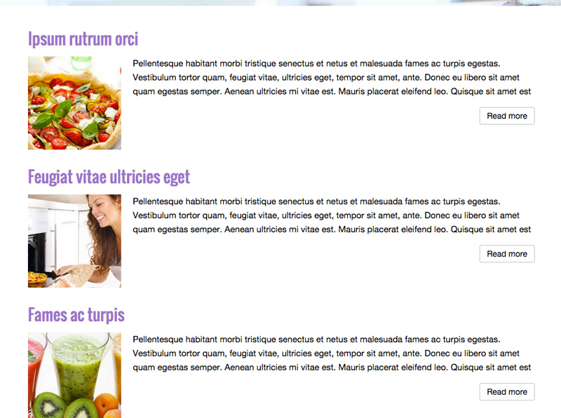 Nutritionist WordPress Theme - Powerful blog