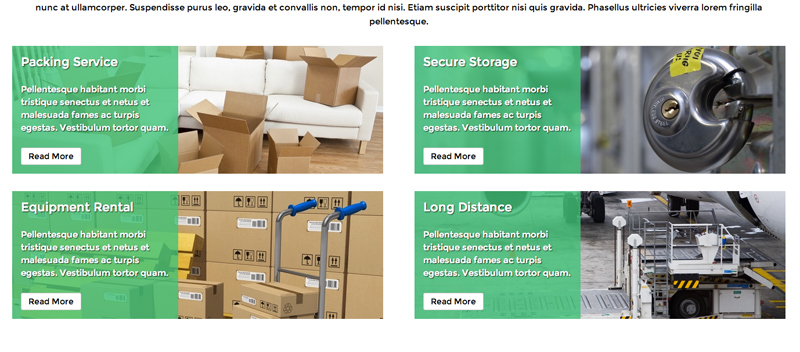 Packers And Movers WordPress Theme - Services feature