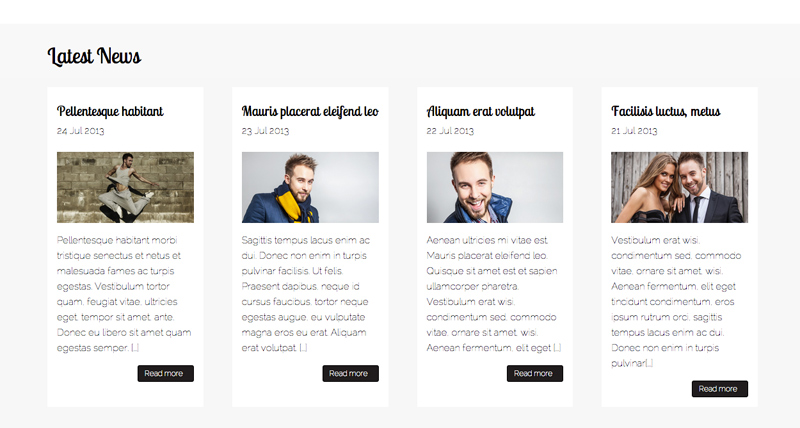 Performer WordPress Thema - Solide blog functionaliteit