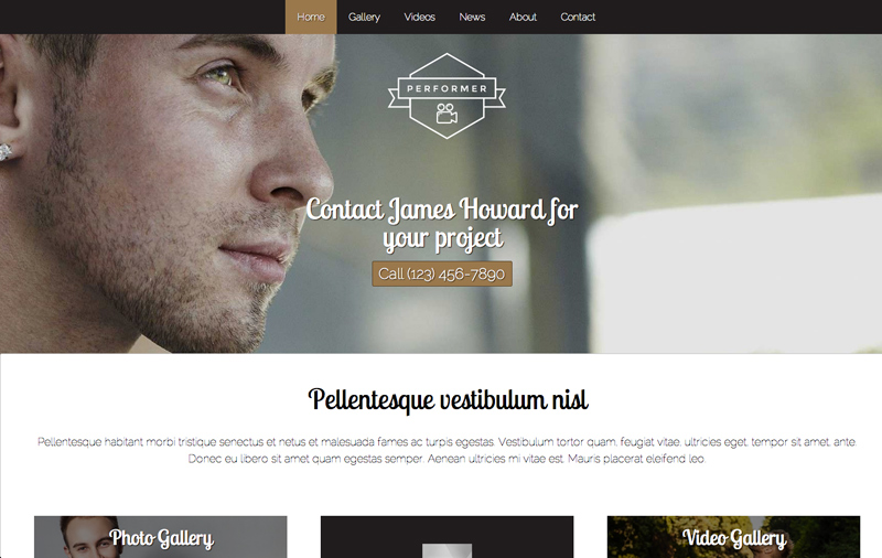 Performer WordPress Thema - Solide ontwerp