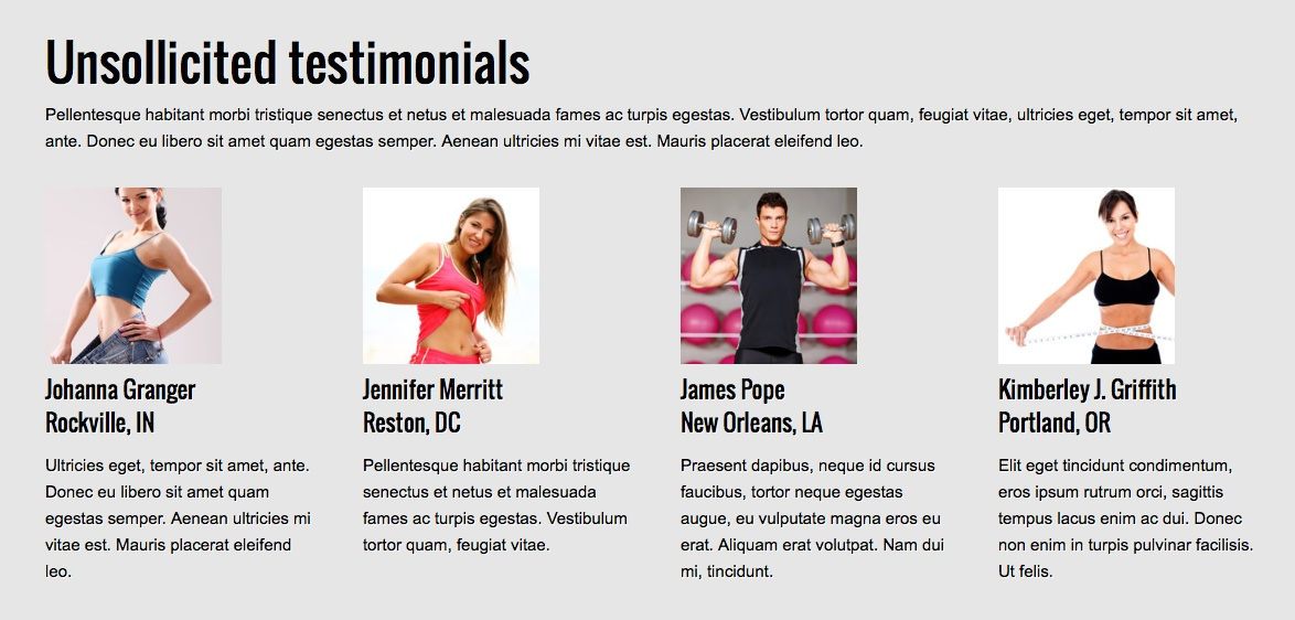 Personal Trainer WordPress Theme - Share client reviews