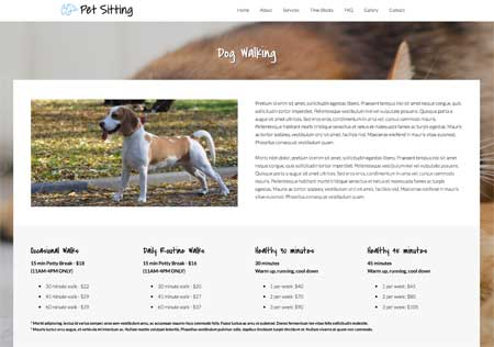 Pet Sitting WordPress Theme - Rock solid detail pages