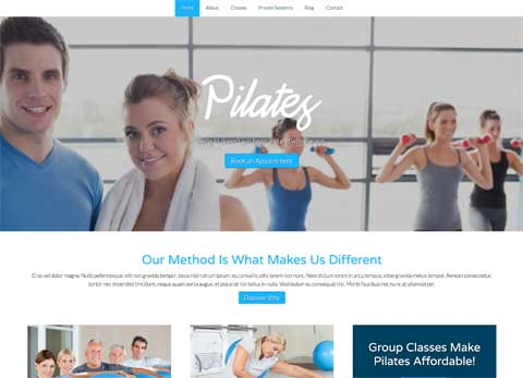 Pilates WordPress Theme - Appealing, efficient design
