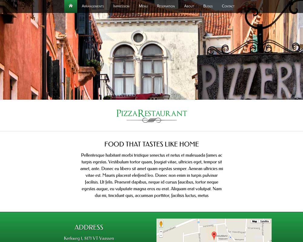 Pizza WordPress Thema - Krachtig, professioneel design