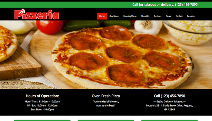 Pizzeria WordPress Theme - High quality design