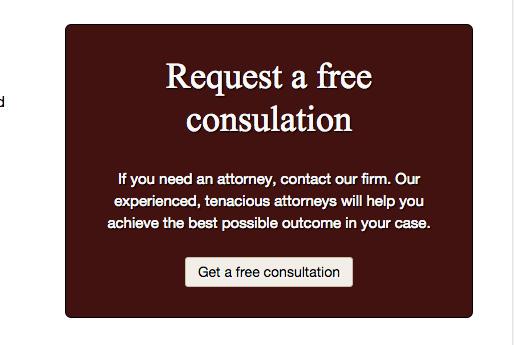 Private Lawyer WordPress Theme - Eye-catching call-to-actions