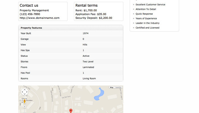 Real Estate WordPress Theme - List available properties
