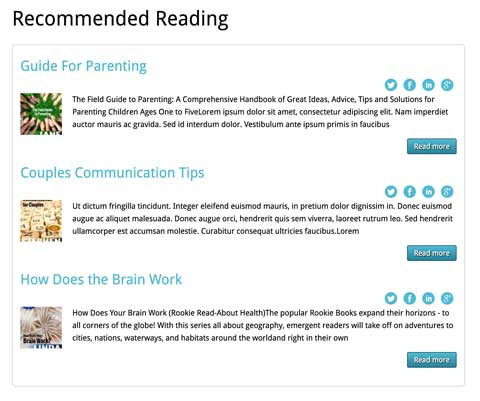 Psychologist WordPress Theme - Recommended reading