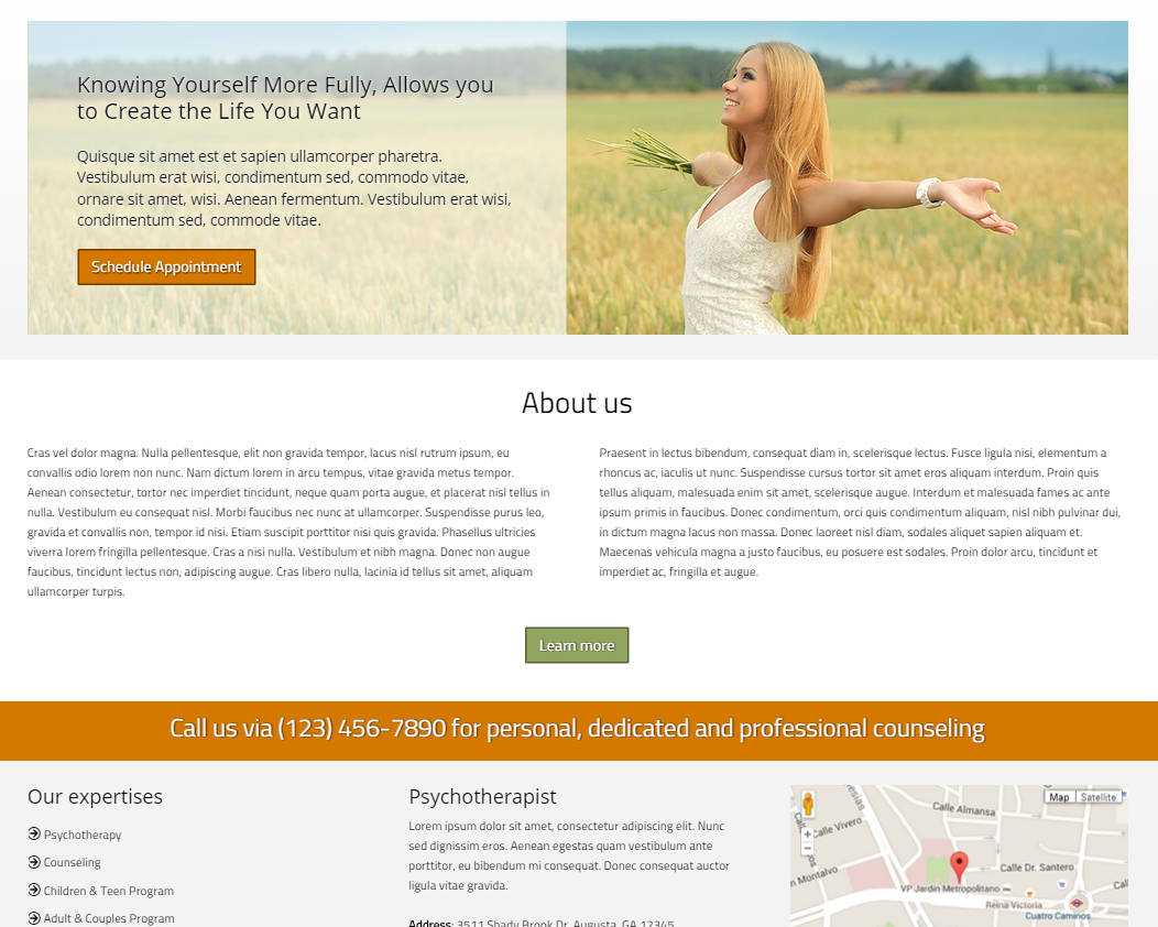 Psychotherapy WordPress Theme - Accessible design, rich features