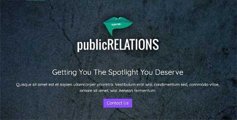 Public Relations WordPress Thema - Krachtige call-to-actions