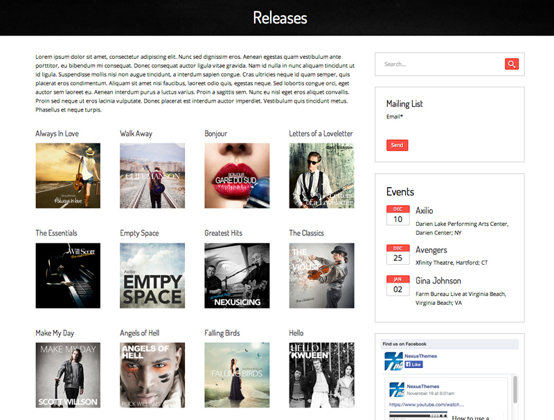 Record Label WordPress Theme - Theme For label owners