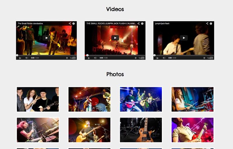 Rock Band WordPress Thema - Prachtige foto galerij