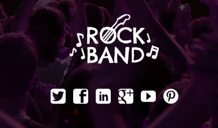 Rock Band WordPress Thema - Promoot jezelf