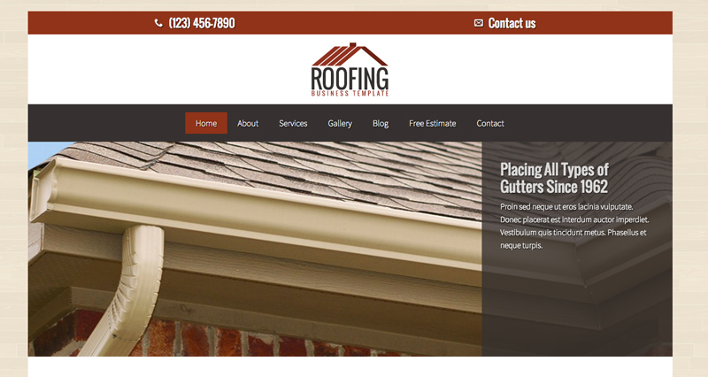 Roofing WordPress Theme - Classic photo slider