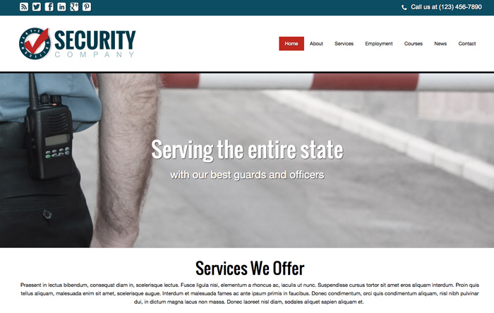 Security Company WordPress Theme - Template For The security company ...