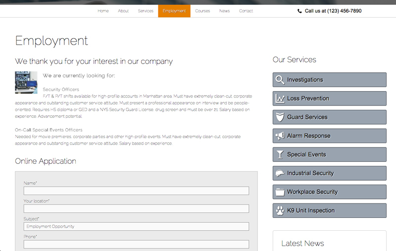Security Services WordPress Theme - Grow your passionate team
