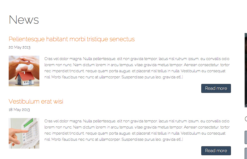 Security Services WordPress Theme - News & announcements blog