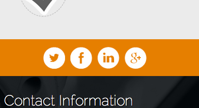 Security Services WordPress Theme - Integrated social media