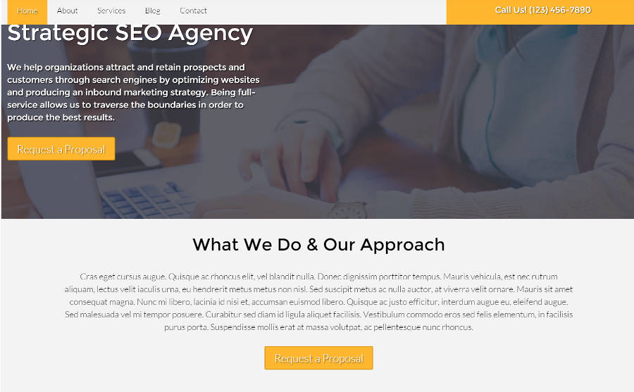 SEO Agency WordPress Theme - Powerful call-to-actions