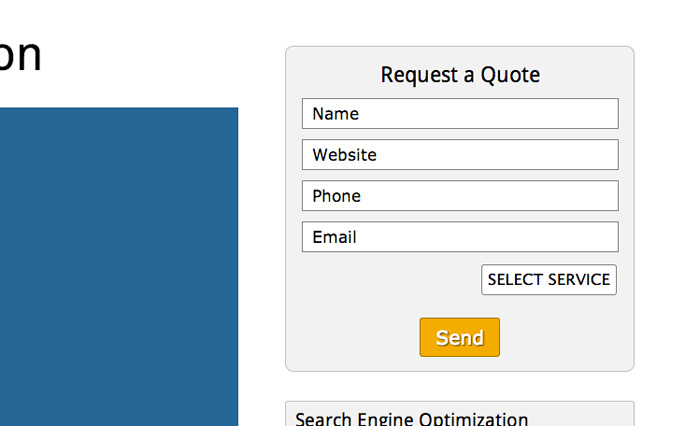 SEO Company WordPress Theme - Convincing call-to-actions