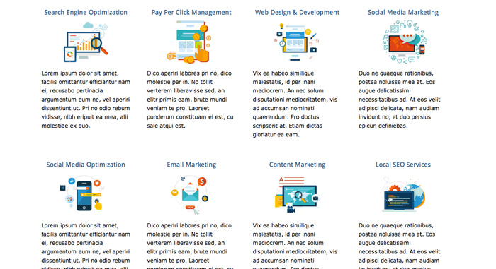 SEO Company WordPress Theme - Overview of services