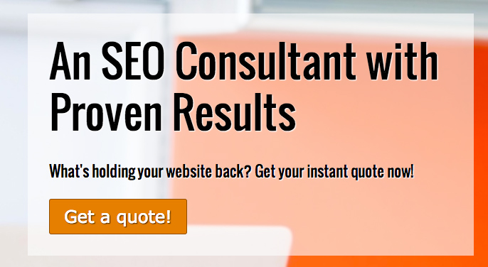 SEO Consultant WordPress Thema - Overtuigende call-to-actions