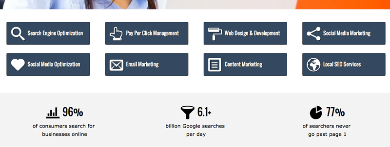 SEO Consultant WordPress Theme - Services feature