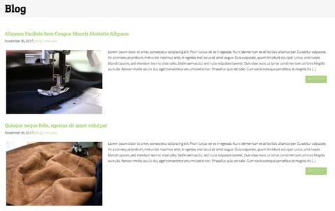 Sewing WordPress Theme - News blog included