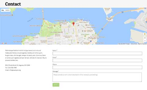 Sewing WordPress Theme - Clear contact information