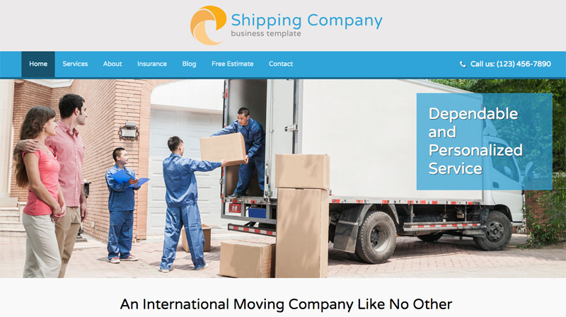 Shipping Company WordPress Theme - Eye-catching image slider