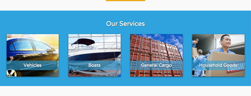 Shipping Company WordPress Theme - One-glance overview