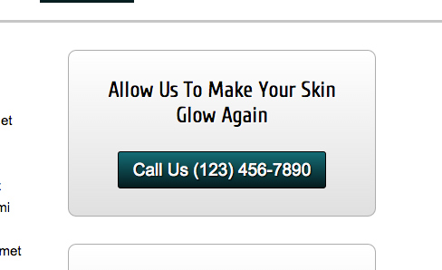 Skin Care WordPress Theme - Eye-catching call-to-actions